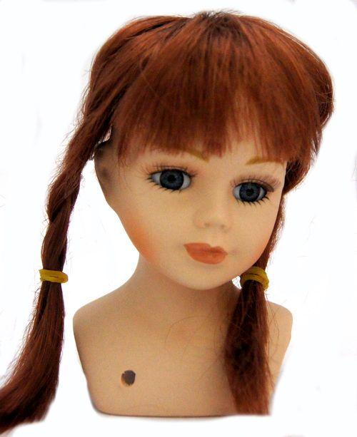 23767 Волосы для кукол П 30,косички, цв.М