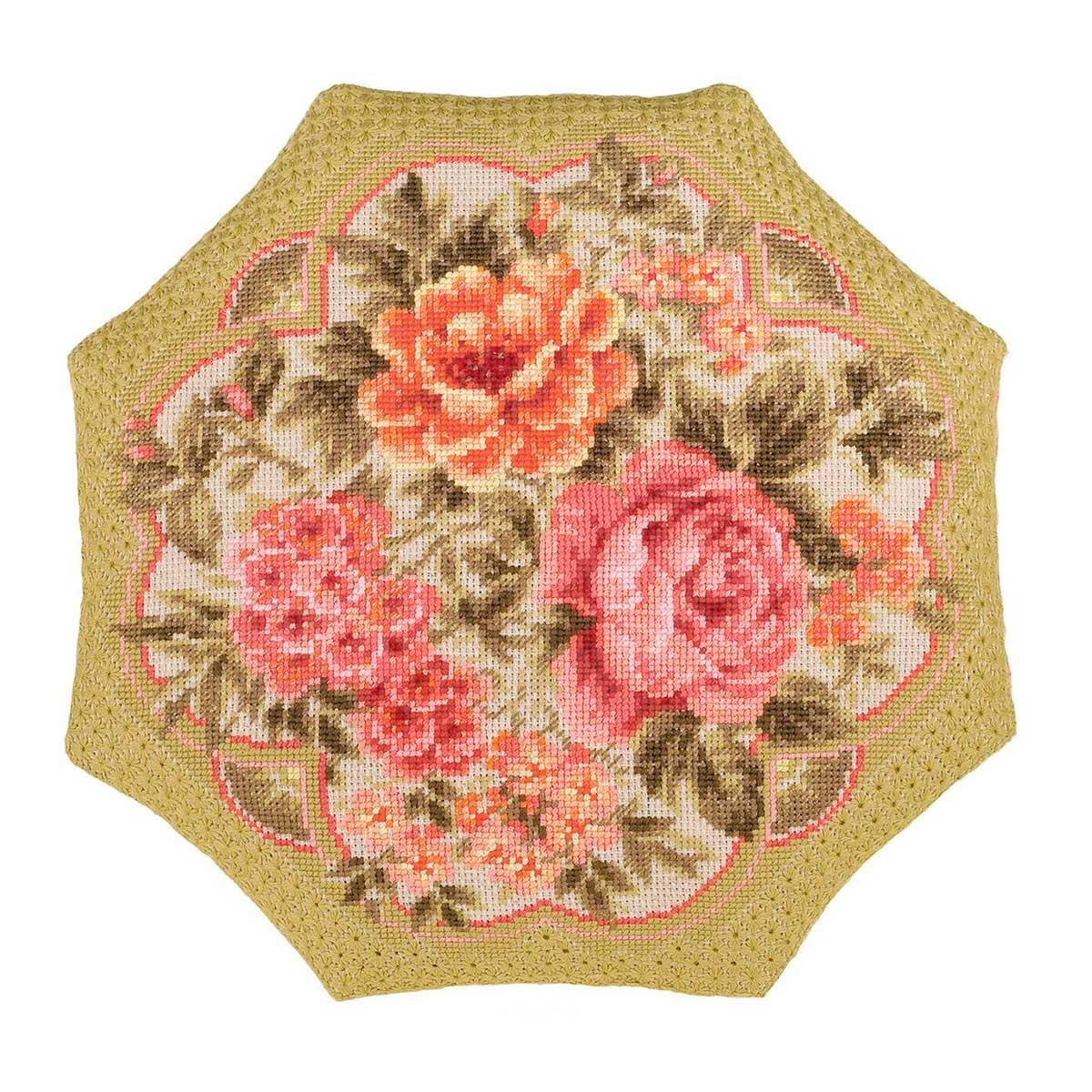 1558 Набор для вышивания Riolis подушка 'Вечерний сад', 40*40 см