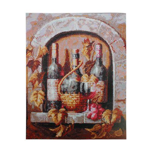 04.004 Набор для вышивания 'Палитра' 'Натюрморт с вином', 26х32 см