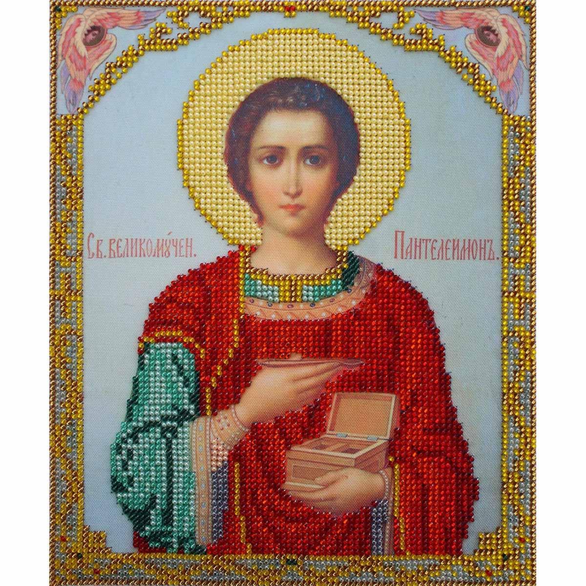 БН-4004 Набор для вышивания бисером Hobby&Pro 'Святой Великомученик Пантелеймон', 19*23 см