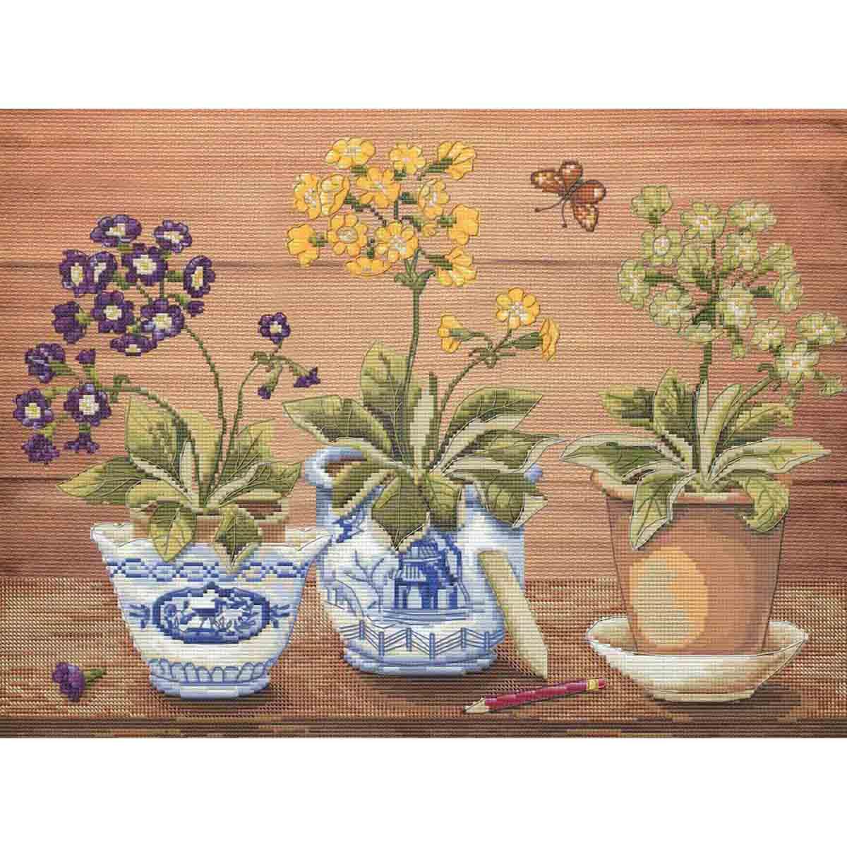 ННД1042 Набор для вышивания 'Весенние первоцветы'