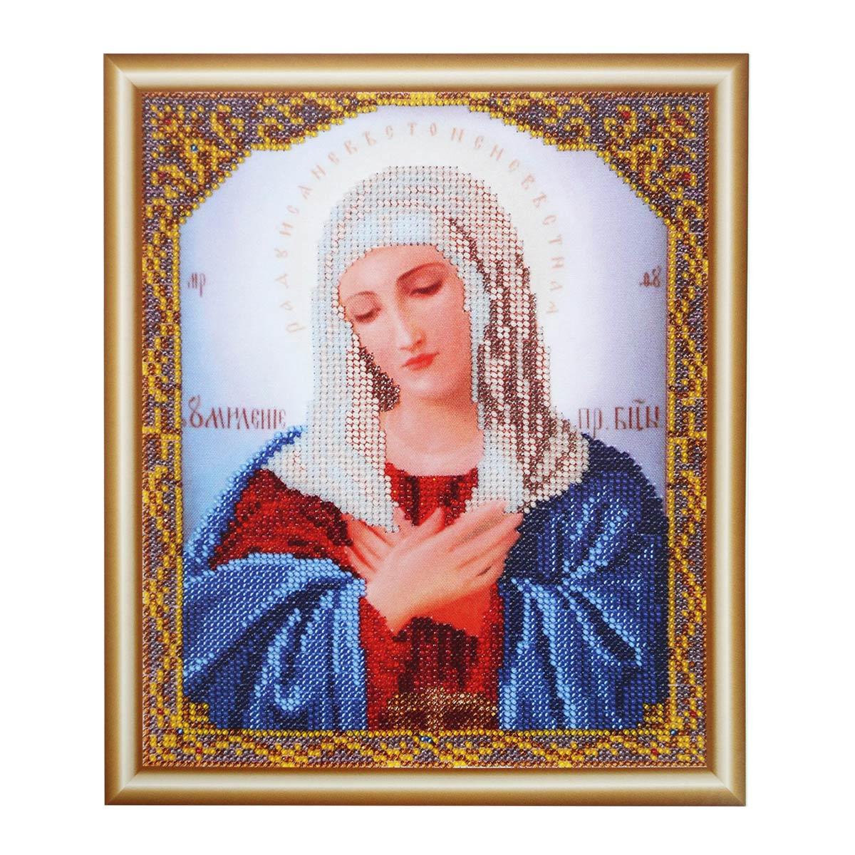 БН-4005 Набор для вышивания бисером Hobby&Pro 'Икона Пресвятой Богородицы Умиление', 19*23 см