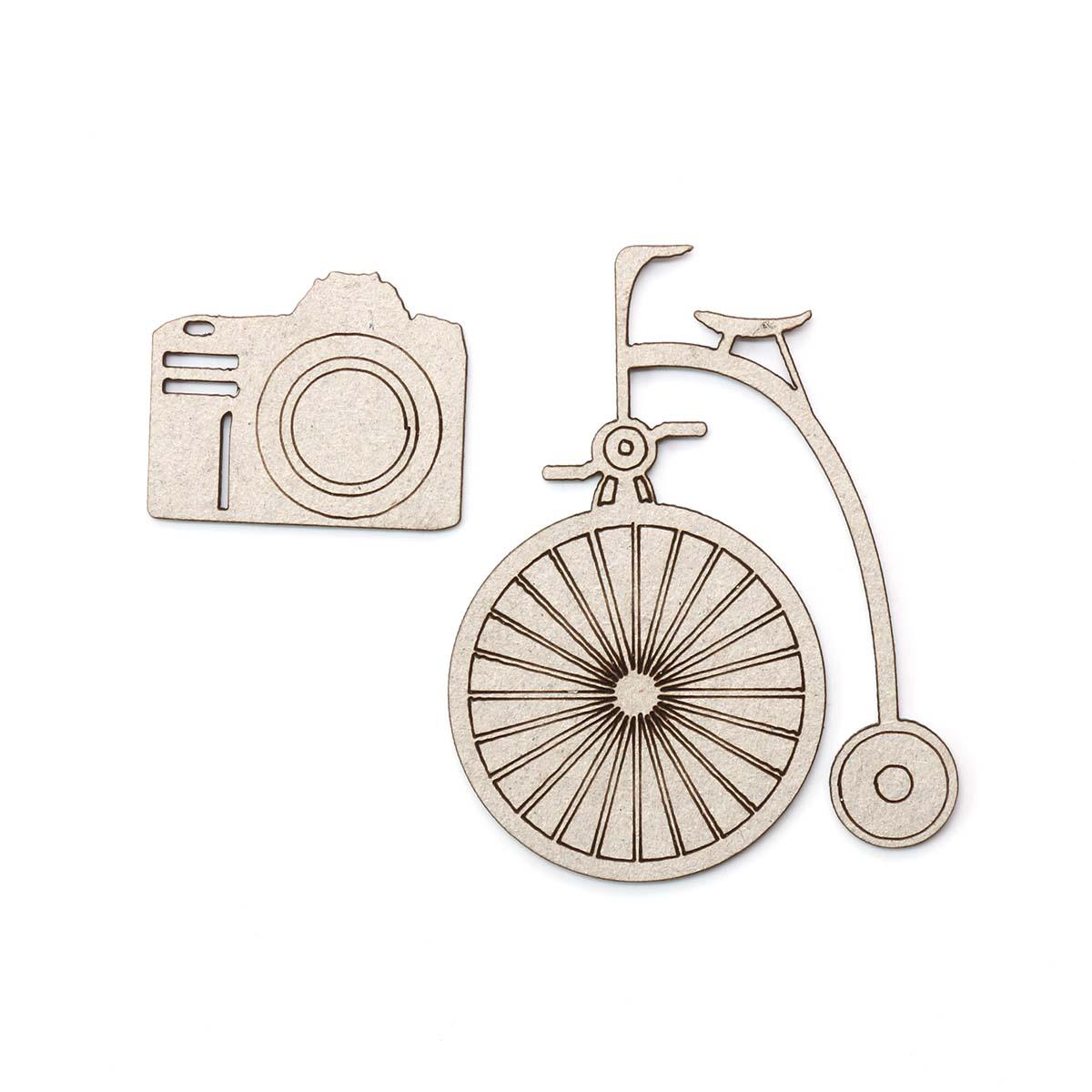 ВК-3 Декоративный элемент 'Велосипед', 50*40 мм, упак./2 шт., 'Астра'