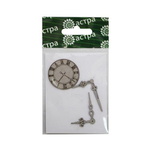 ВК-6 Декоративный элемент 'Часы и стрелки', d 3 см, упак./3 шт., 'Астра'