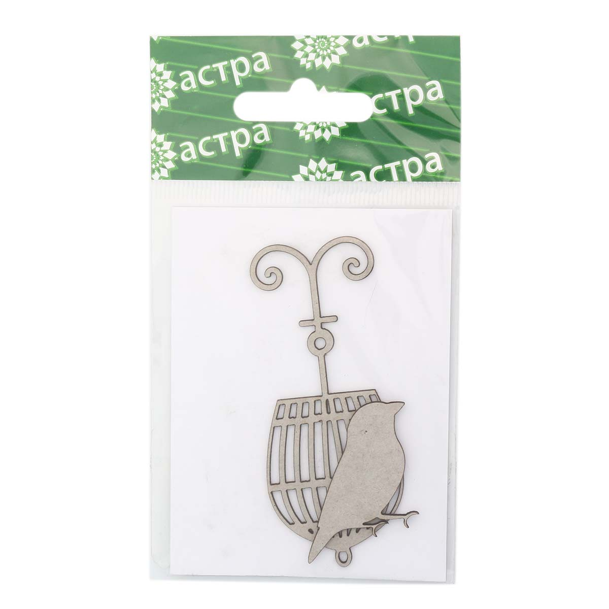 ВК-8 Декоративный элемент 'Винтажная клетка с птичкой', упак./2 шт., 'Астра'