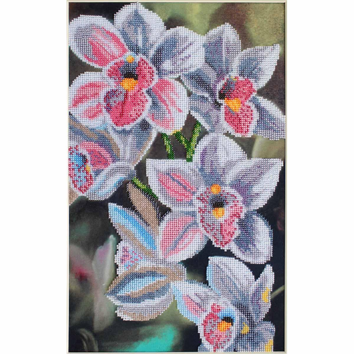 БН-3121 Набор для вышивания бисером Hobby&Pro 'Любимые орхидеи', 24*40 см