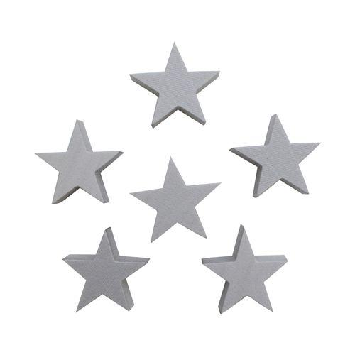 Набор фигурок из пенопласта 'Звезда' (10шт),5*2см