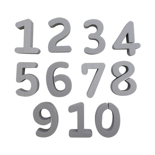 Набор фигурок из пенопласта 'Цифры' от 1до 10 (10шт),8*2см