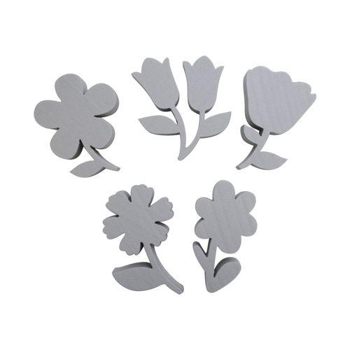 Набор фигурок из пенопласта 'Цветы №1'(5шт),10*2см