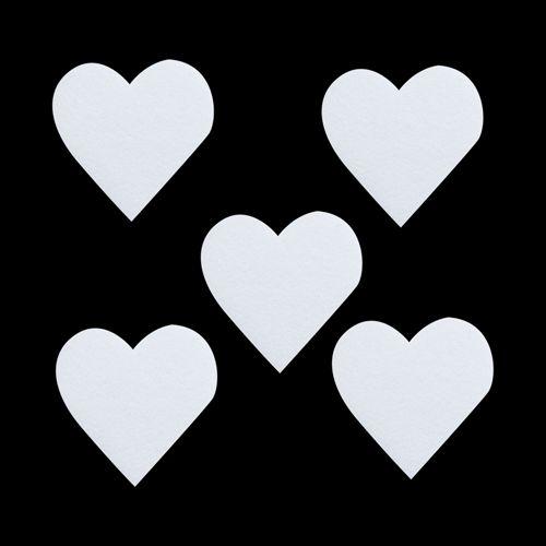 Набор фигурок из пенопласта 'Сердечко'тонкое(10шт), 10*0,3см