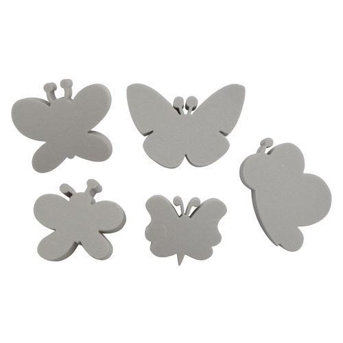 Набор фигурок из пенопласта 'Бабочки №1'(5шт),10*2см