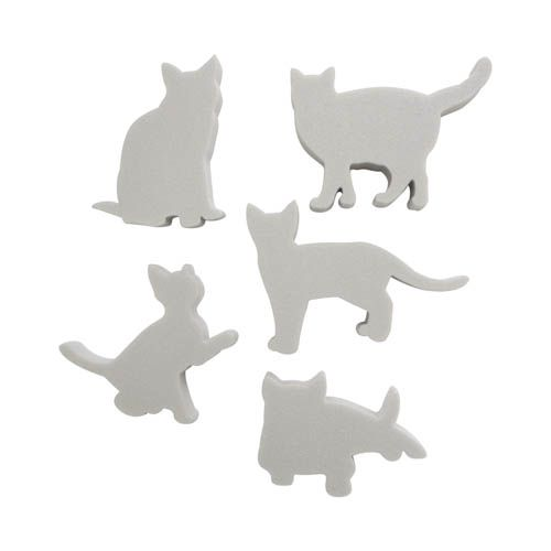 Набор фигурок из пенопласта 'Кошки №1'(5шт),10*2см