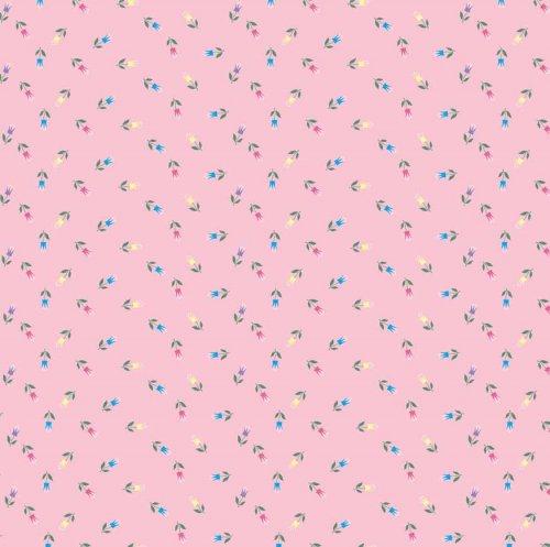 БС0207 Бумага для скрапбукинга 'Сказочные цветочки' на розовом