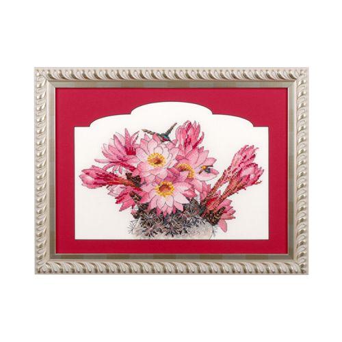 0010 Набор для вышивания 'Ажур' 'Цветущий кактус' 26x17 см