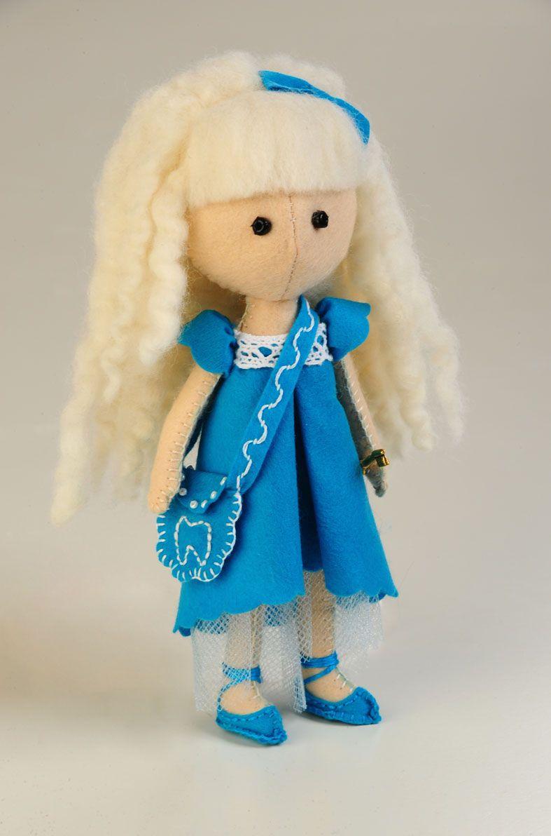 ПФ-1203 Набор для изготовления текстильной игрушки из фетра 'Зубная Фея', 17 см, 'Перловка'