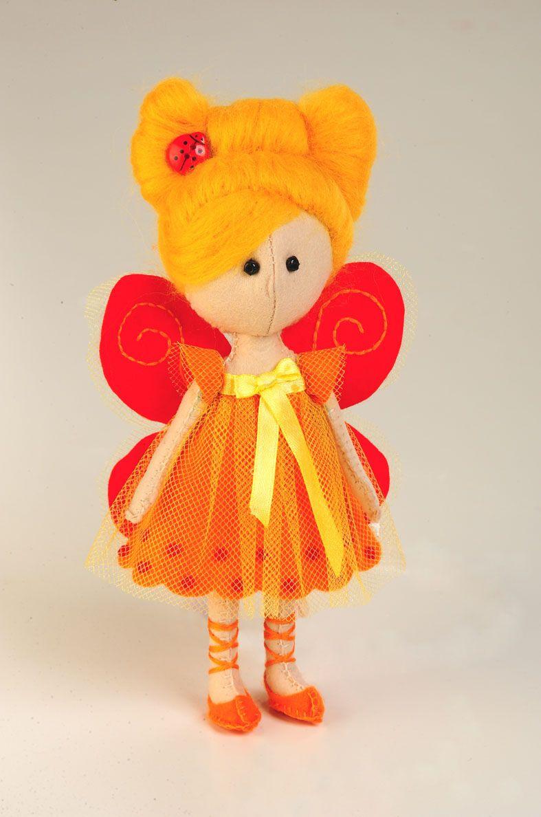 ПФ-1206 Набор для изготовления текстильной игрушки из фетра ''Фея- Бабочка',17,5 см, 'Перловка'