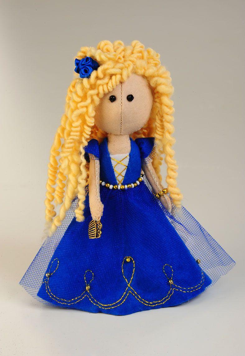 ПФ-1208 Набор для изготовления текстильной игрушки из фетра 'Златовласка', 17 см, 'Перловка'