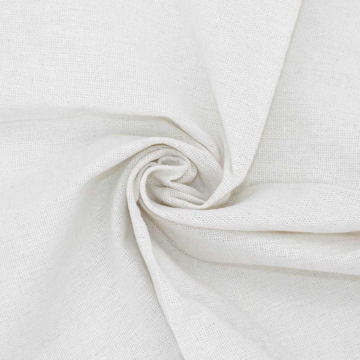 24229 Ткань 'ДЕКОР 1/09' 50*50см (80%лен,20%хлопок), цвет белый