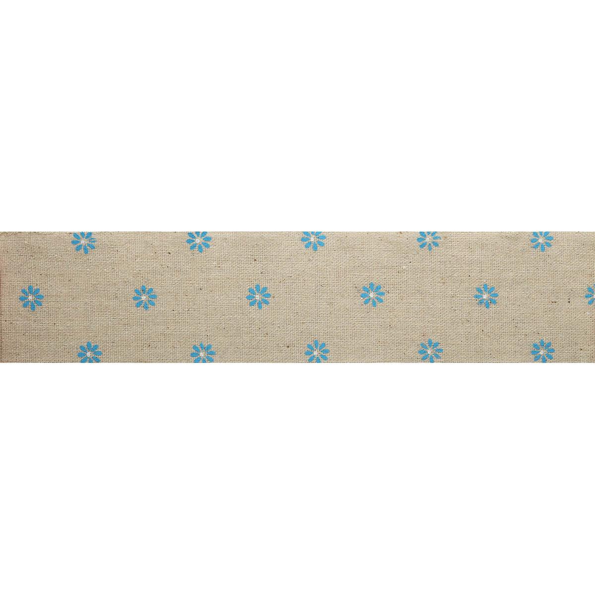 Полоска из декор.ткани с принтом (80%хлопок,20%лен), размер 6см*3м± 5см (Н-06) фото