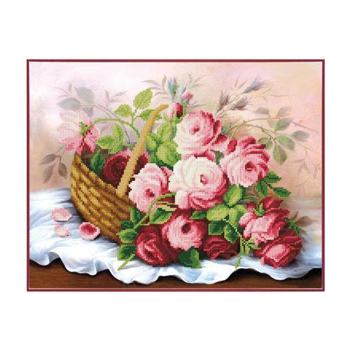 Б-753 Набор для вышивания бисером 'Чарівна Мить' 'Корзина цветов', 35*26 см фото