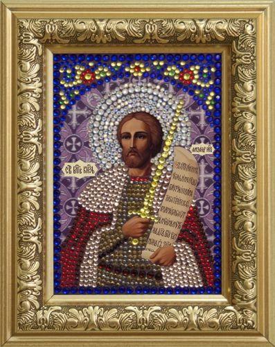 0301 Набор для выкладывания стразами 'Святой Александр Невский' 10,5*14,8 см