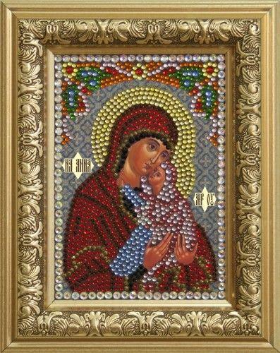0302 Набор для выкладывания стразами 'Святая Праведная Анна' 10,5*14,8 см