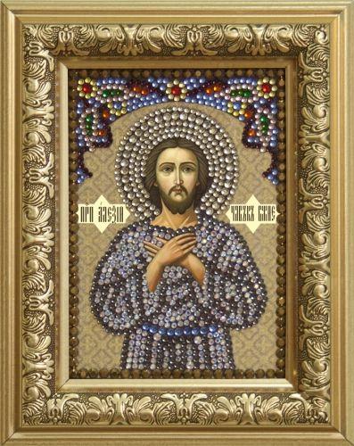 0304 Набор для выкладывания стразами 'Преподобный Алексий, человек Божий' 10,5*14,8 см