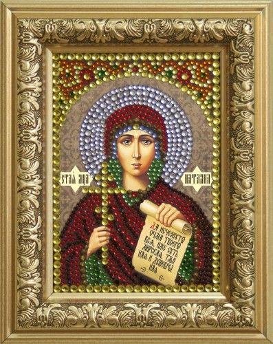 0308 Набор для выкладывания стразами 'Святая мученица Наталия' 10,5*14,8 см