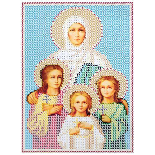 КР-05-067 Набор для вышивания бисером «Вера, Надежда, Любовь и их мать София», 14*18 см