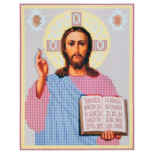 КР-05-014 Набор для вышивания бисером «Иисус Христос», 14*18 см