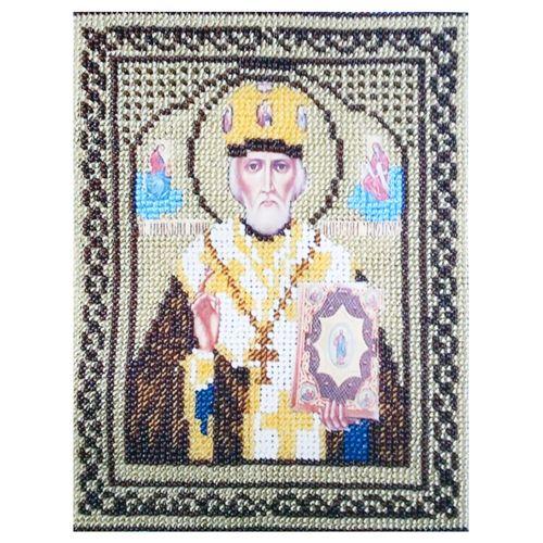 КР-05-108 Набор для вышивания бисером «Николай Чудотворец», 14*18 см