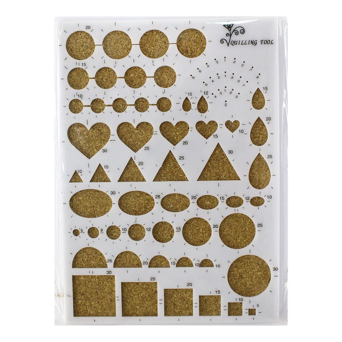22966 Пластиковая доска для квиллинга с пробковым основанием, цв. белый
