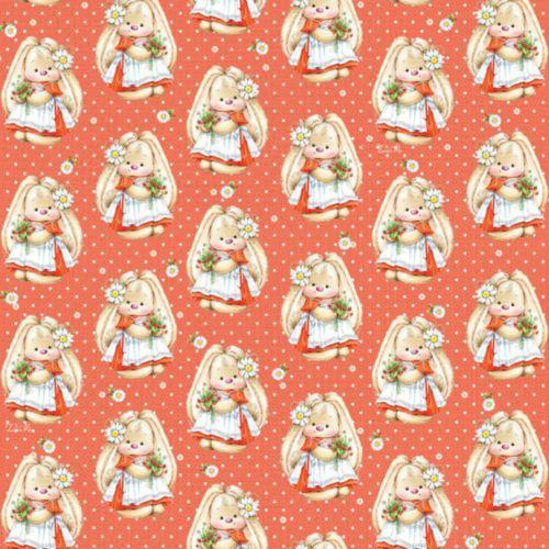 HY00802 Упаковочная бумага 'ЗайкаМи' 'Земляника в цвету', 67,4*97,4 см