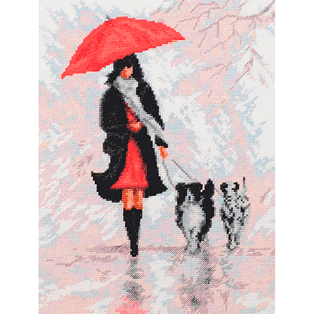 11.009 Набор для вышивания 'Палитра' 'Дама с собачками', 20*26 см