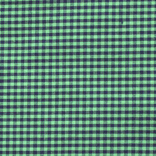 24814 Ткань с мелким принтом 'клетка' , размер 50*70см 100%полиэстер, цв. зеленый