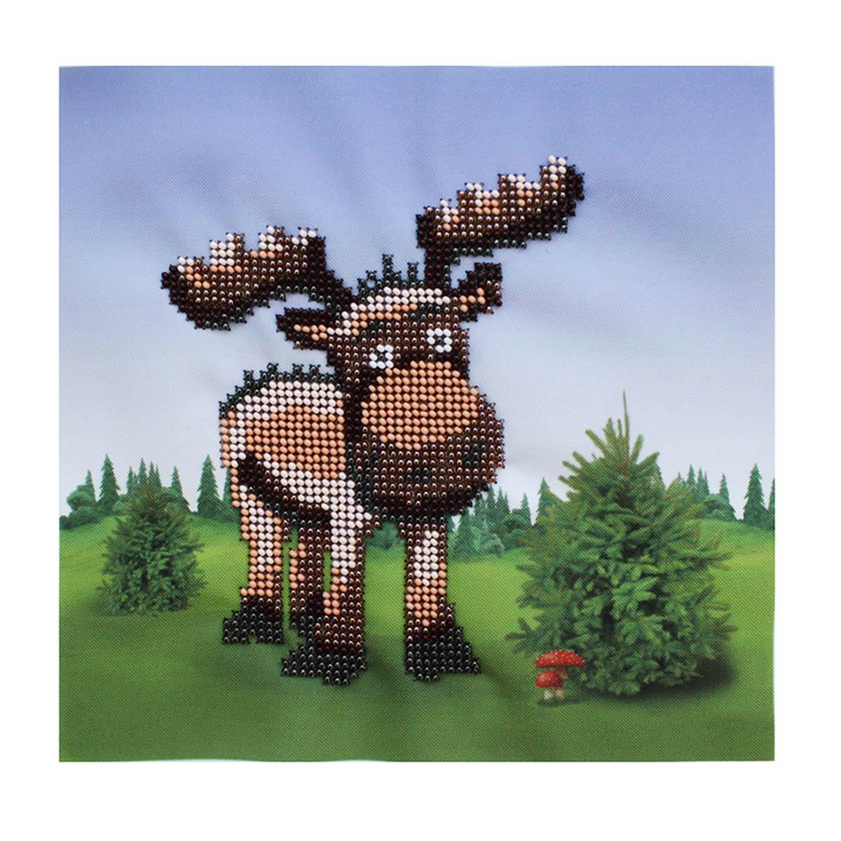 Б-0086 Набор для вышивания бисером 'Бисеринка' 'Лесной гость', 20*20 см