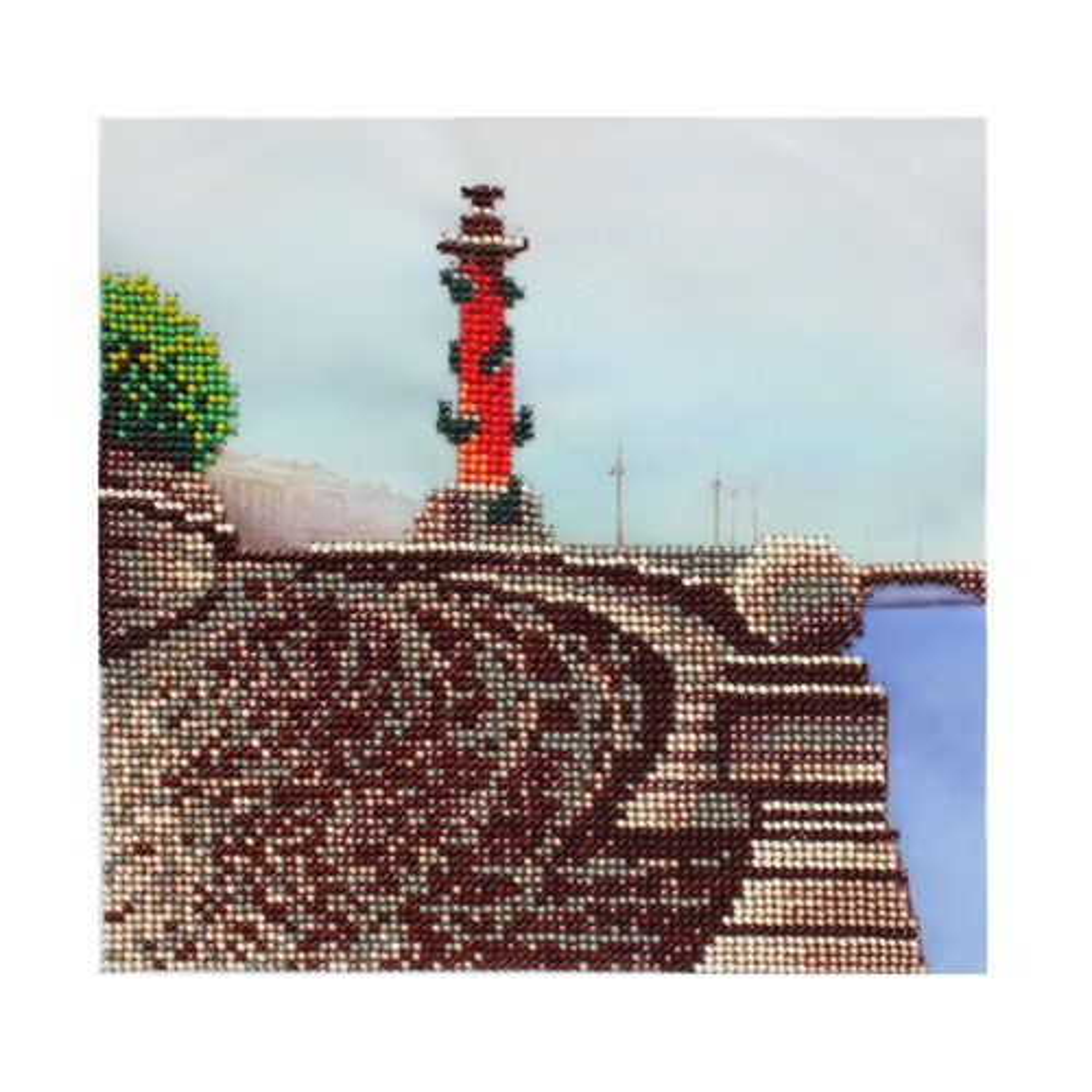 БН-3215 Набор для вышивания бисером Hobby&Pro 'Стрелка Васильевского острова' 19,5*19,5см