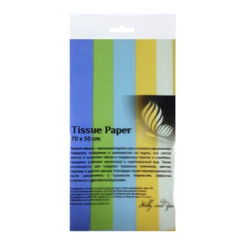 HY07002 Набор бумаги тишью 50*70см, 5 шт*уп Полевые цветы