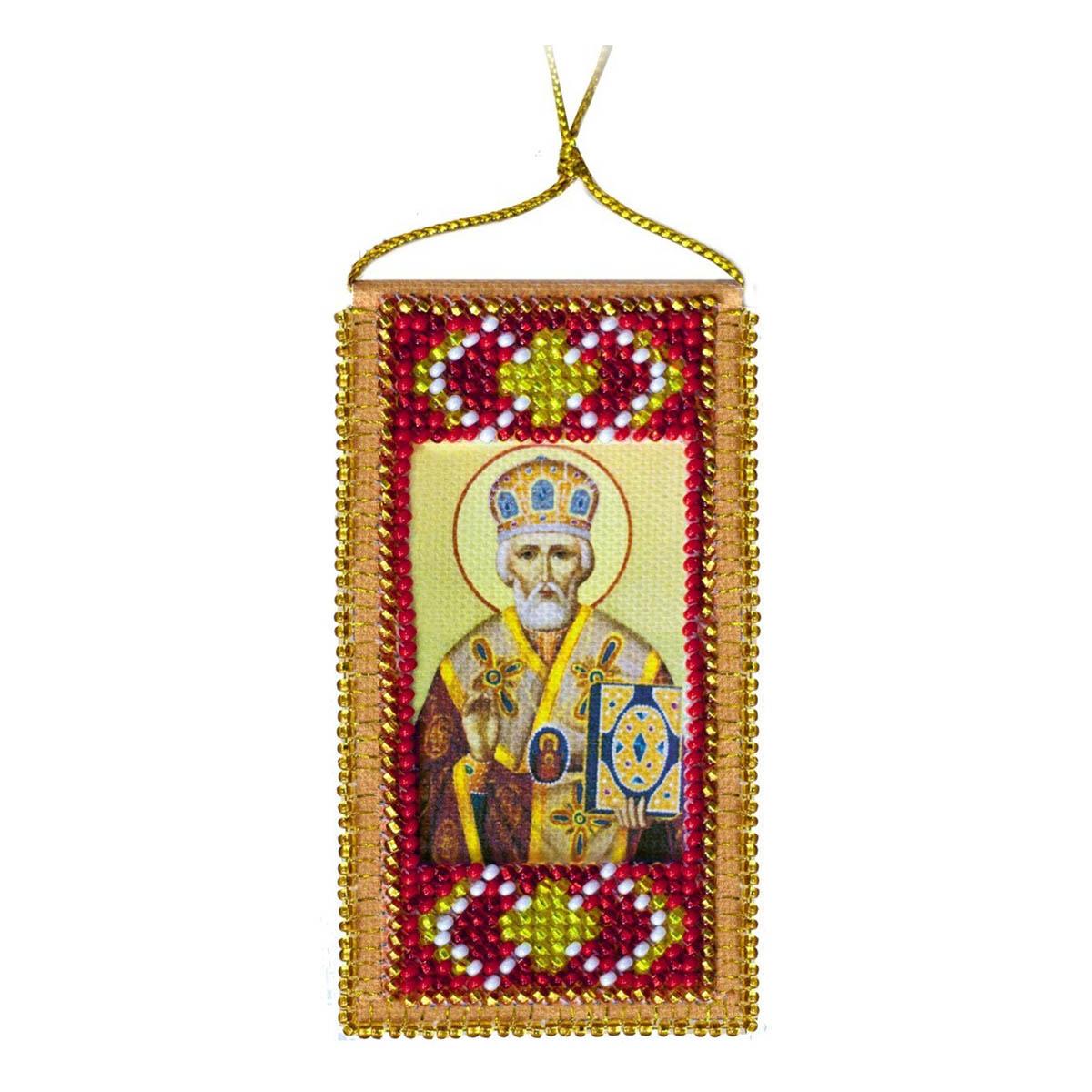 АВО-005 Набор для вышивки бисером на натуральном художественном холсте 'Абрис Арт' 'Молитва путешествующих', 5*20 см