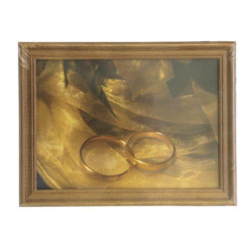 3N57 Рамка деревянная со стеклом, орех, 13*18 см