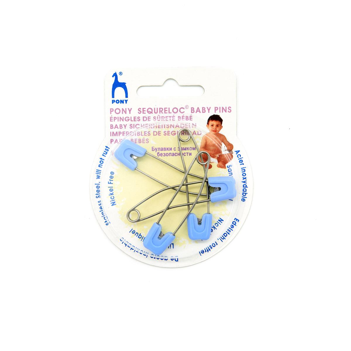 99001/01 Булавки английские с замком безопасности, голубой PONY