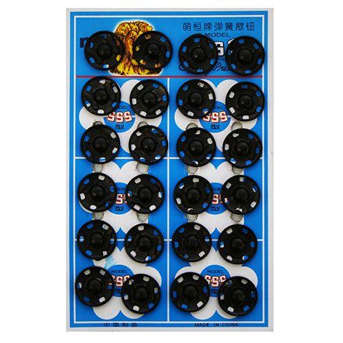 Кнопка пришивная PBM-4 мет. 16мм. черн. (24шт.) Кф (0300-5100)