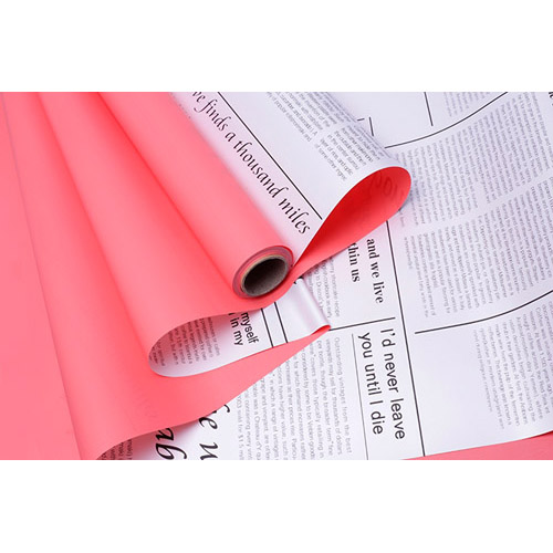 78538 (78542) Пленка матовая 60см*10м газета белая красный