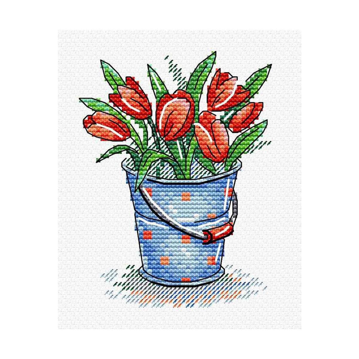 М-377 Набор для вышивания МП Студия 'Свежесть тюльпанов'11*8см