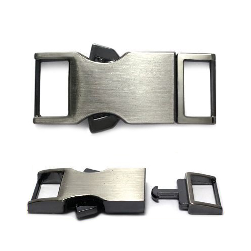 ГНУ14421 Фастекс 15мм ушко, 51*20мм, тертый черный никель