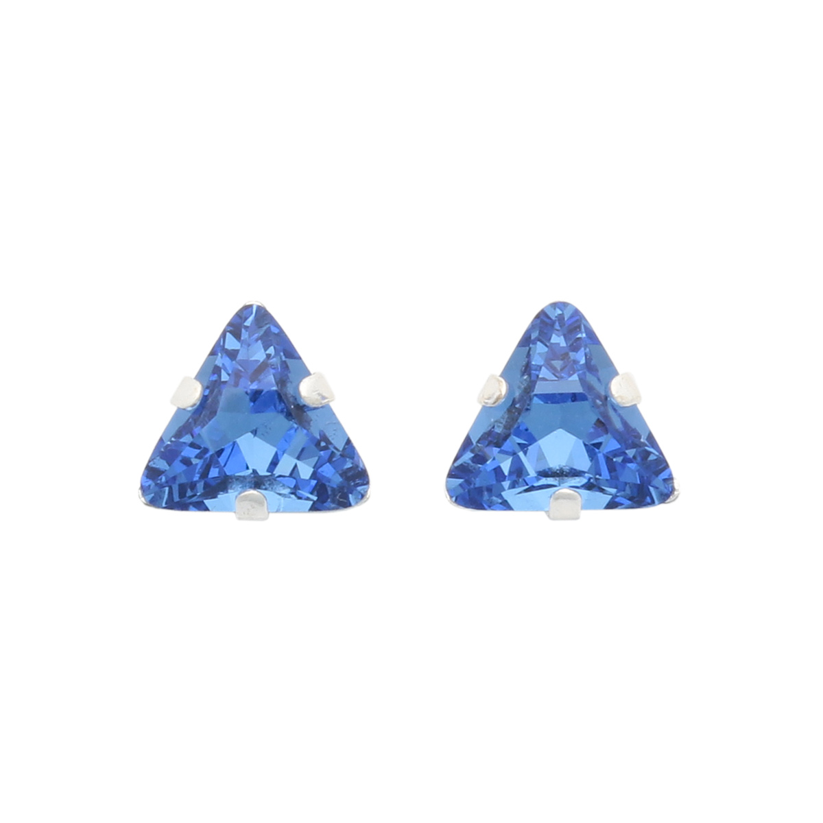 Хрустальные стразы в цапах/серебро треугольные 8мм, 2шт упак Астра
