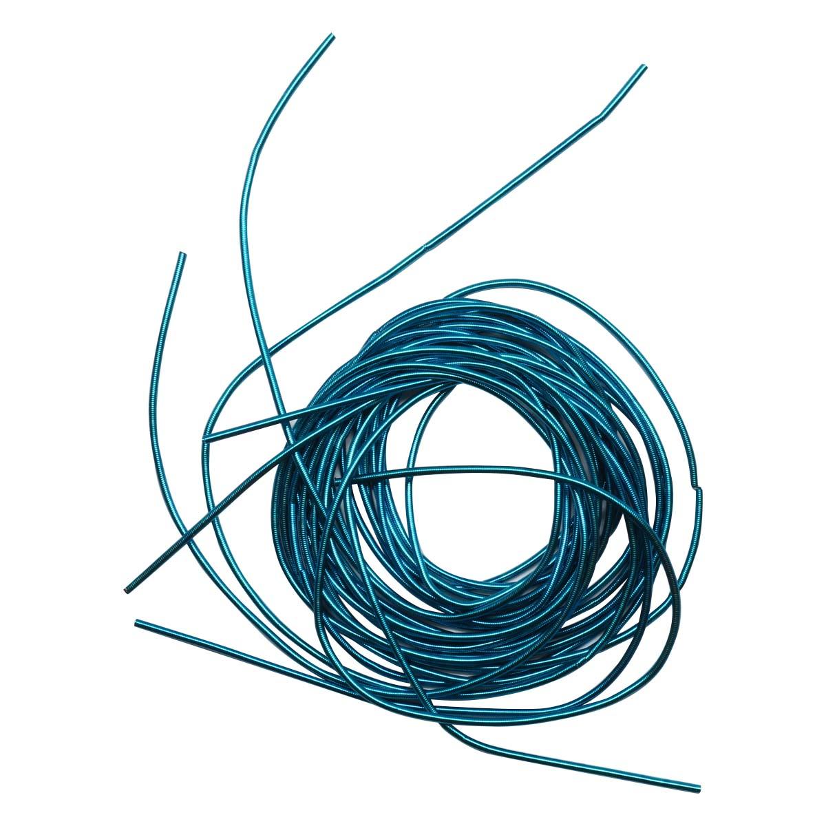КА008НН1 Канитель гладкая Голубой 1 мм, 5 грамм +/- 0,5 гр.