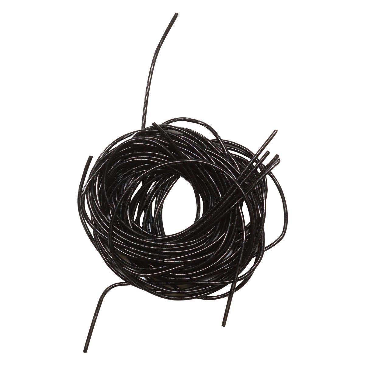 КА011НН1 Канитель гладкая Черный 1 мм, 5 гр +/- гр.