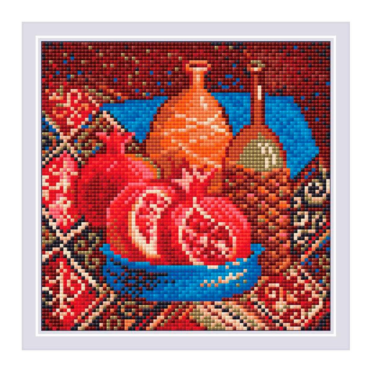 AM0033 Набор алмазной мозаики Риолис «Гранаты» 20*20см