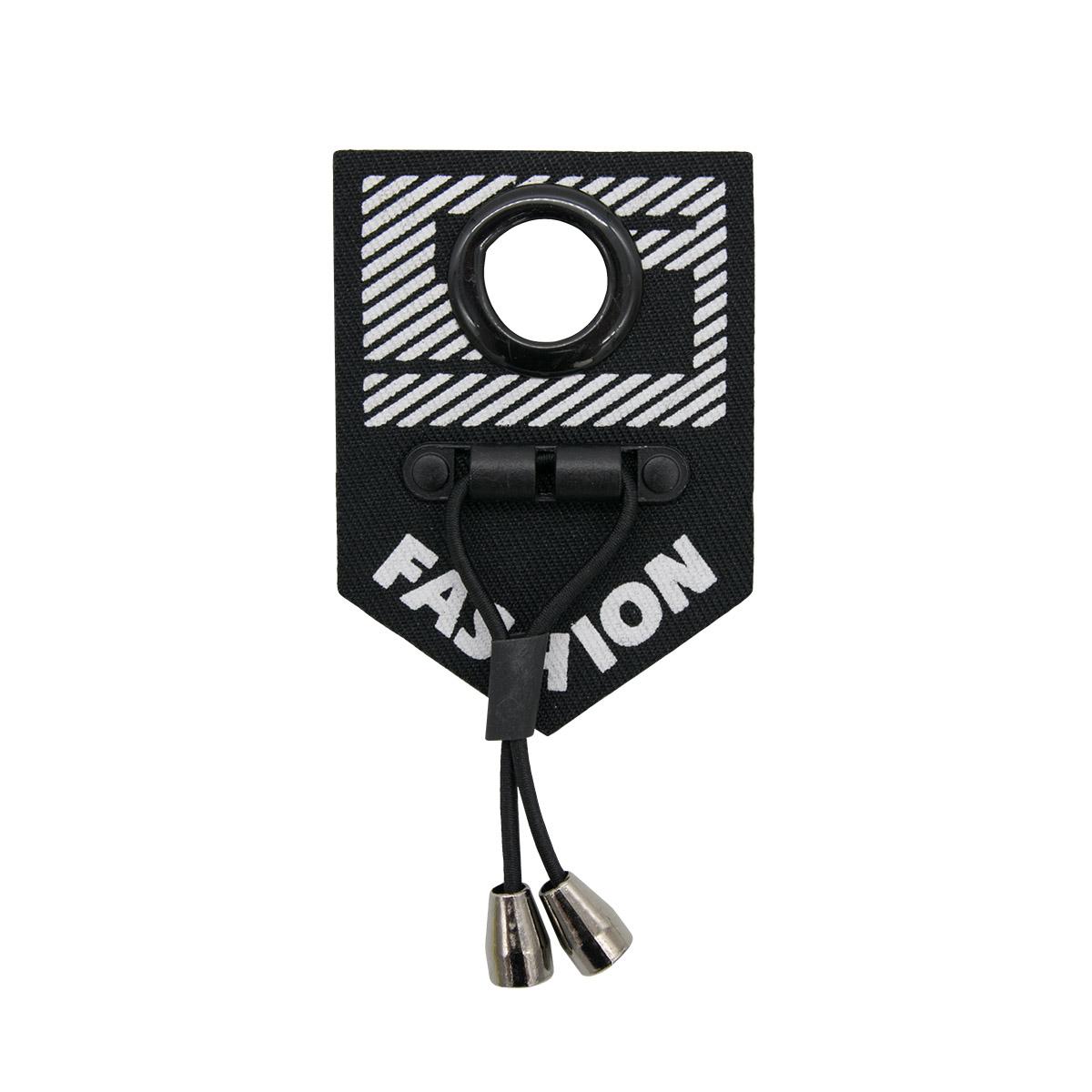 ГУБ8408 Нашивка 50*70мм, черный+белый лого Fashion